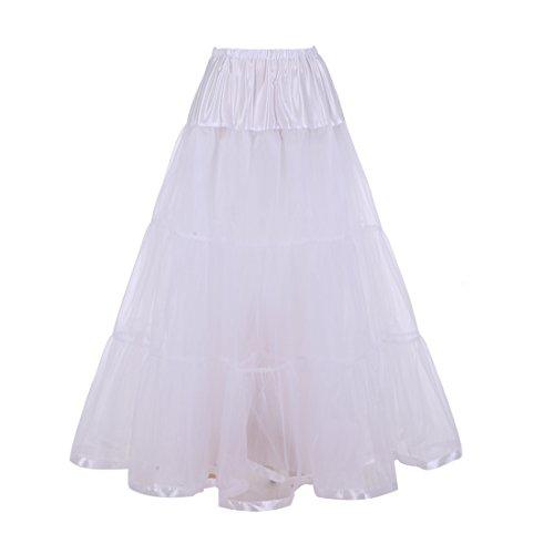 Bbonlinedress Women's Ankle Length Bridal Wedding Petticoats,Formal Dress Slips Ivory S/M