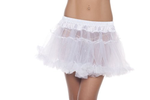 Be Wicked Costumes Women's Kate 12 Inch 2-Layer Petticoat, White, One Size