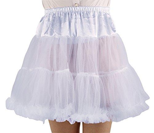 Shimaly Women's Princess Layered Puff Skirt Mini Tutu Skirt Short Petticoat (S-M, White)