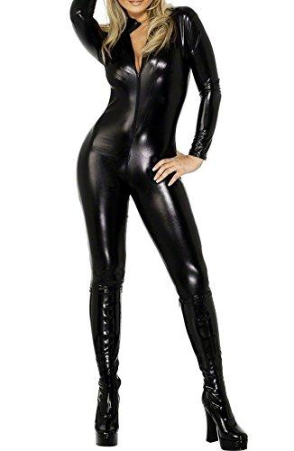 Love Lingerie Womens Pvc Look Lycra Catsuit Various Sizes Available