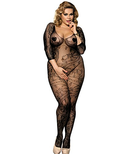Shmimy Sexy Lingerie Bodystocking for Women for Sex Fishnet Teddy Floral Crotchless Babydoll Underwear Bodysuit