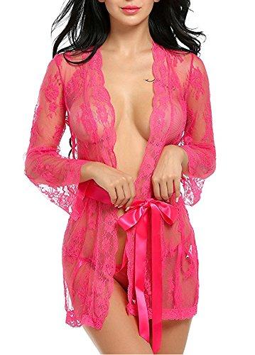Women Lingerie Lace Babydoll One Piece Jumpsuit Pant Teddy Dress